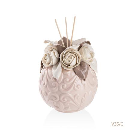 V35-C Mongolfiera Sharon Italia - Profumatori per ambienti, profumi per ambienti, diffusori per ambienti, Porcellane capodimonte, porcellane di capodimonte-6