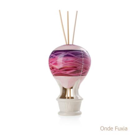 Onde Fuxia Mongolfiera Sharon Italia - Profumatori per ambienti, profumi per ambienti, diffusori per ambienti, sharon bomboniere, bomboniere artigianali