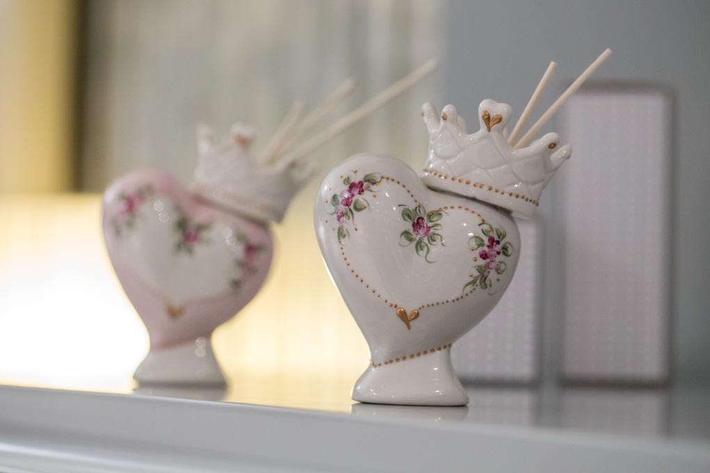 Sharon italia - Profumatori ambiente, profumatori in porcellana - cuori in porcellana