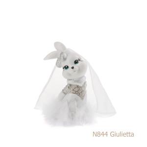 Coniglio in porcellana, porcellata decorata - N844 Giulietta