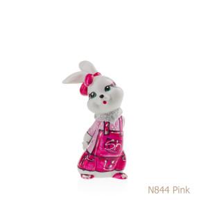 Coniglio in porcellana, porcellata decorata - N844 Pink