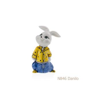 Coniglio in porcellana, porcellata decorata - N846 Danilo