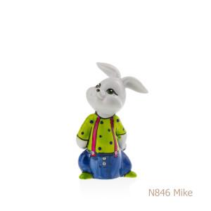 Coniglio in porcellana, porcellata decorata - N846 Mike