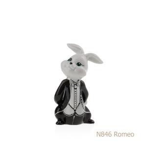 Coniglio in porcellana, porcellata decorata - N846 Romeo