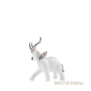 Elefante in porcellana, porcellata decorata BW2710 Platino