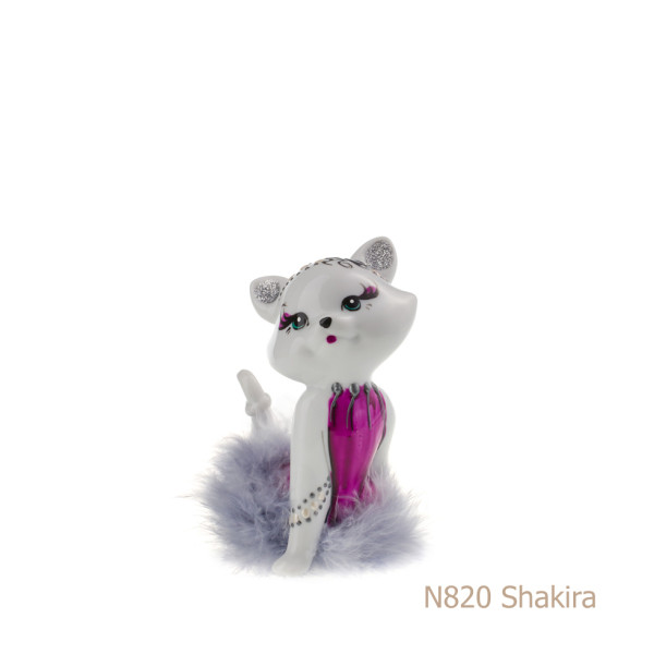 Gatto in porcellana, porcellata decorata - N820 Shakira
