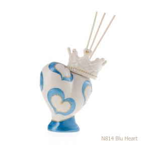 N814-BLU HEART
