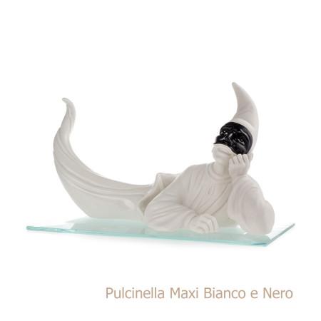 Pulcinella maxi bianco e nero