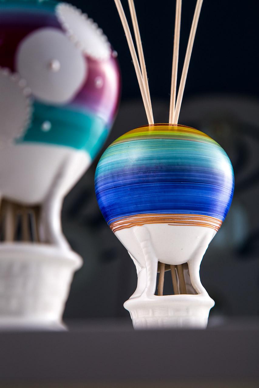 Sharon Italia - Profumatori ambiente - Porcellana decorata a mano - Mongolfiere 2