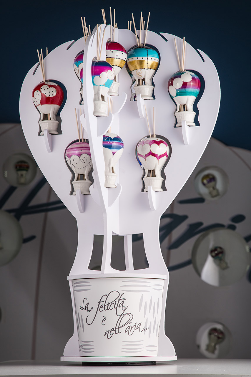 Sharon Italia - Profumatori ambiente - Porcellana decorata a mano - Mongolfiere