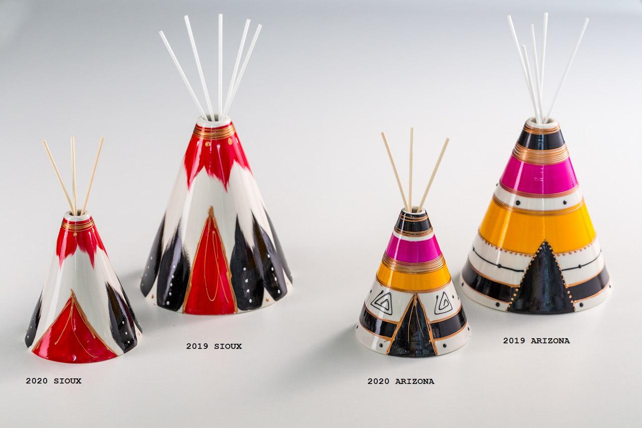 Sharon Italia - I Tipì - Collezione 2020 - Porcellana Decorata a mano - profumatori ambiente - Profumatore Ambiente