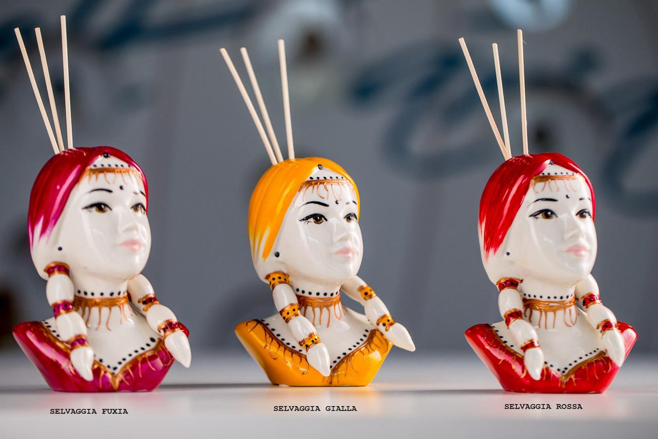 Sharon Italia - Le Indiane - Collezione 2020 - Porcellana Decorata a mano - profumatori ambiente - Profumatore Ambiente