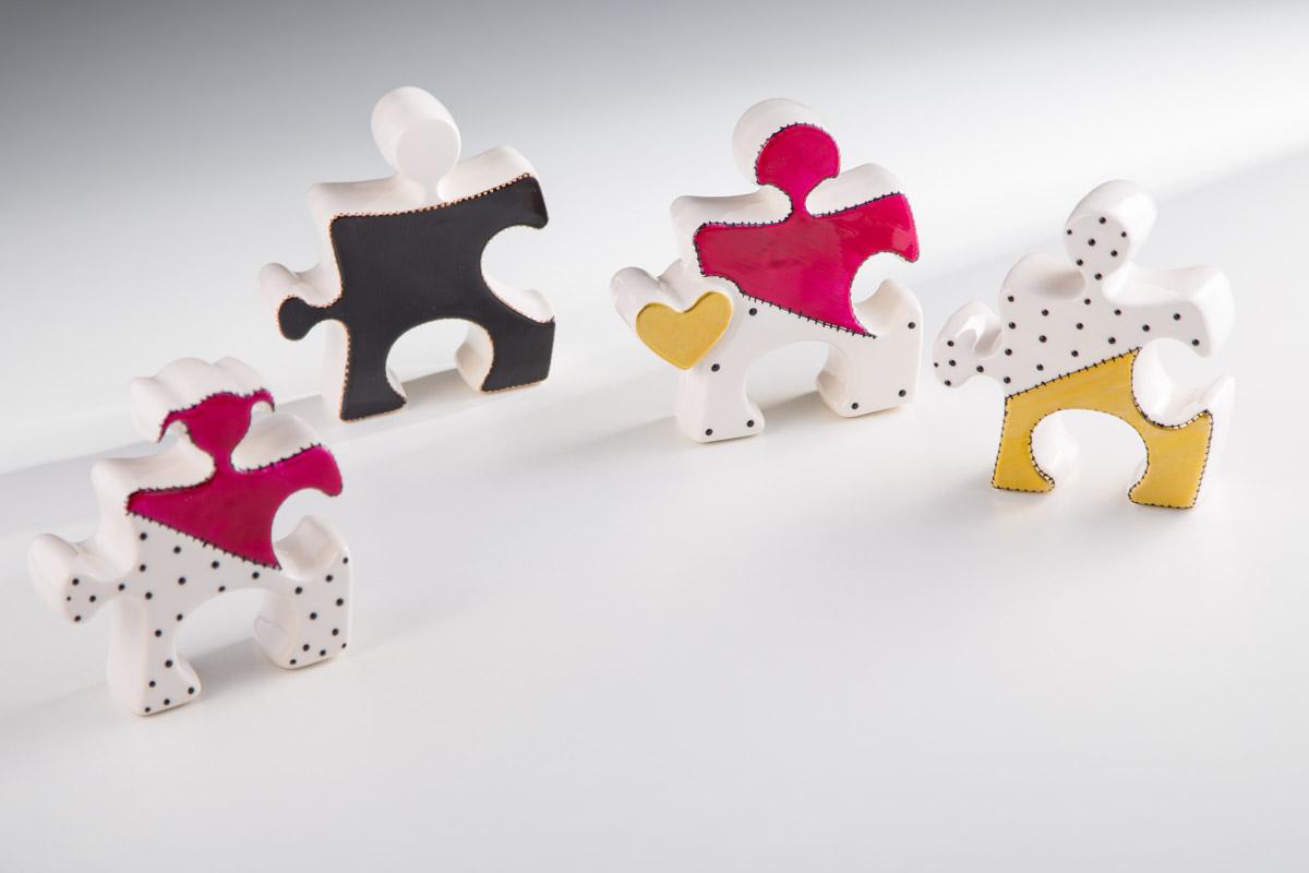 Sharon Italia - Il Puzzle - Porcellana Decorata a Mano